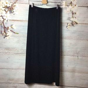 Valerie Stevens Black Velvet Long Maxi Skirt